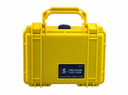 Pelican 1120 Case With Foam Yellow
