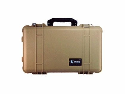 Pelican 1510 Carry-On Case With Foam Tan
