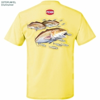 Penn SSTDRUMYEL Drum Runner 100% Cotton Tee Shirt Yellow