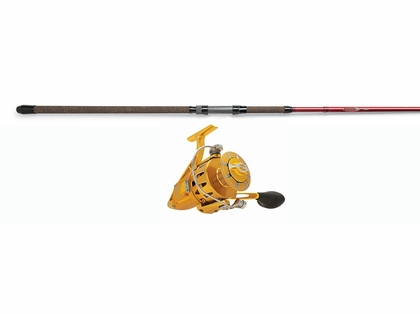 Penn Torque Reel Gold - St. Croix 12ft Avid Spin Rod Surf Fishing Combo