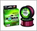 PowerPro Braided Spectra Fiber Fishing Line - Vermilion Red -  1500yds.