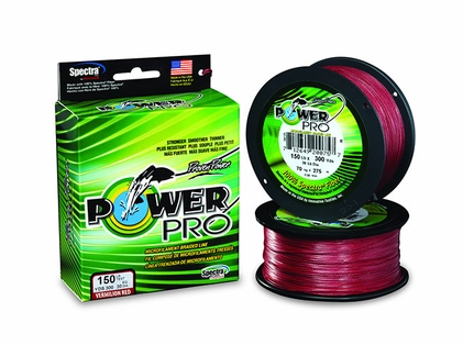 PowerPro Braided Spectra Fiber Fishing Line Vermilion Red 50LB 150 Yds