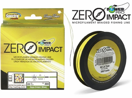 PowerPro Zero-Impact Braided Fishing Line 65lb 500yds Aqua Green