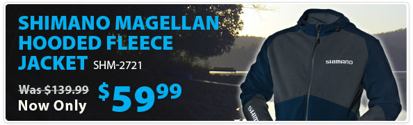 Shimano Magellan Fleece Hooded Jacket - Navy Sale