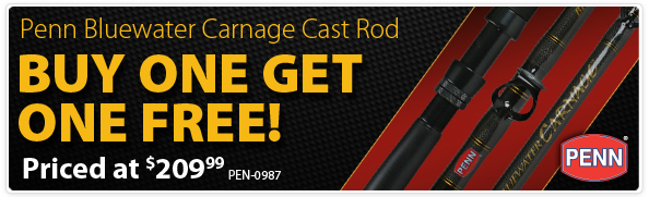 Penn Bluewater Carnage Cast Rod Buy One Get One Free