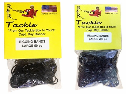 R&R RBL1000 Black Rigging Bands 1000pk Large