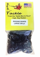 R&R RBL200 Black Rigging Bands 200pk Large