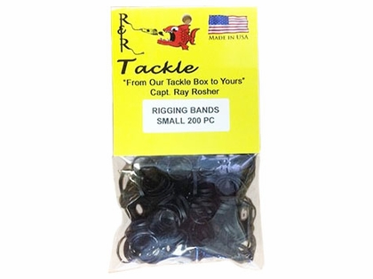 R&R RBS200 Black Rigging Bands 200pk Small