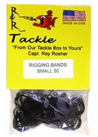 R&R RBS50 Black Rigging Bands 50pk Small