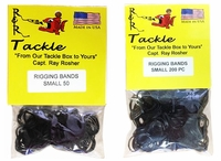 R&R RBS1000 Black Rigging Bands 1000pk Small