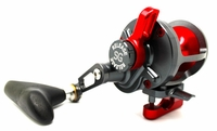 Release P-1593 Saltwater Conventional Reel SG Gunmetal/Red