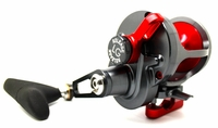 Release LG-P2401R Large Game Conventional Lever Drag Reel Gunmetal/Red