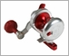 Release P-1609L Saltwater Conventional Reel SG Silver/Red