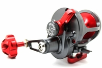 Release LG-P2400R Large Game Conventional Lever Drag Reel Gunmetal/Red