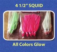 Run Off Lures Rigged and Unrigged Squid