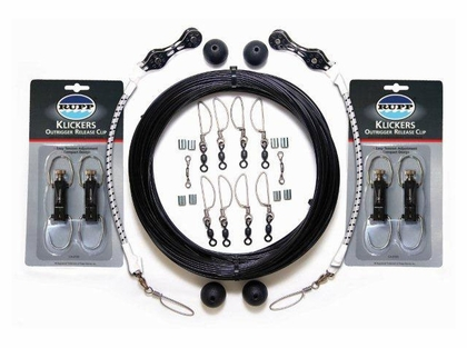 Rupp CA-0108-MO Double Rigging Kit with KLICKERS, Black Mono