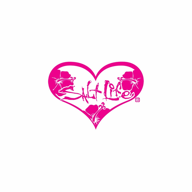 Salt Life Heart Decals Fly Fishing Rods