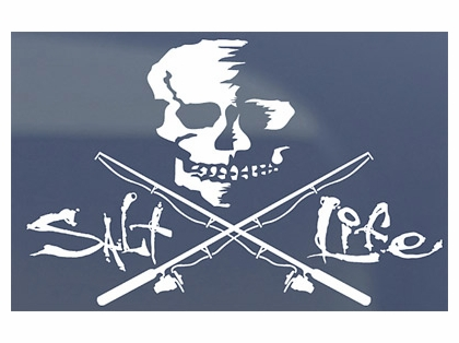 Salt Life SAD934 Medium Skull and Poles Decal