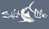 Salt Life Signature Sailfish Decal - White