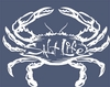 Salt Life Signature Salty Crab Decal - White