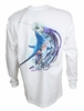 Salt Life SLM0179 Marlin Lure LS T-Shirt - White