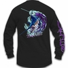 Salt Life SLM0179 Marlin Lure Pocket L/S Tee