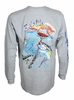 Salt Life SLM0192 Tuna Buoy LS T-Shirt - Athletic Heather