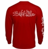 Salt Life SLM10117 Overspray LS Pocket T-Shirt - Red