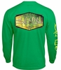 Salt Life SLM10125 Fish Skinz LS Pocket T-Shirt - Grass Green