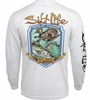 Salt Life SLM10126 Bay Brew Lager LS Pocket T-Shirt - White