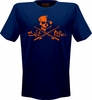 Salt Life SLM113 Mens Skull and Poles Logo College Short Sleeve Tee