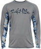 Salt Life SLM680 The Abyss SLX Performance L/S Pocket Tee