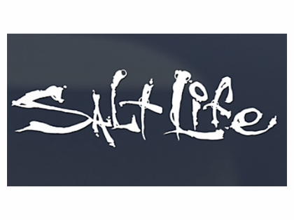 Salt Life Small White Signature Decal