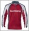 Shimano Technical Long Sleeve Sublimated Zip Tee Red