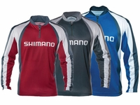 Shimano Technical Long Sleeve Sublimated Zip Tees