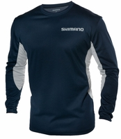 Shimano TEEMILSNV Long Sleeve Technical Tee Navy