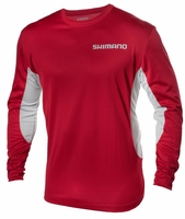 Shimano TEEMILSRD Long Sleee Technical Tee Red