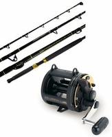 Shimano TLD-25 Triton Lever Drag Reel / Ande ASU-601A-SBMH Stand Up Rod Trolling Combo