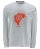 Simms Bass Hunter LS Tee - Ash Grey