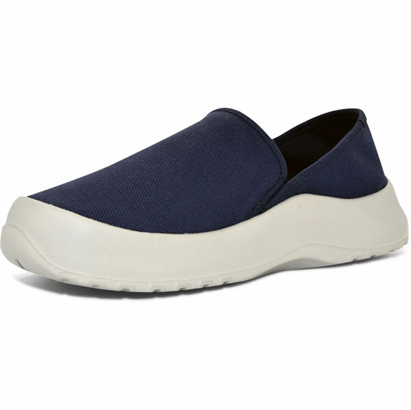 softscience drift canvas slip on shoes blue tackledirect