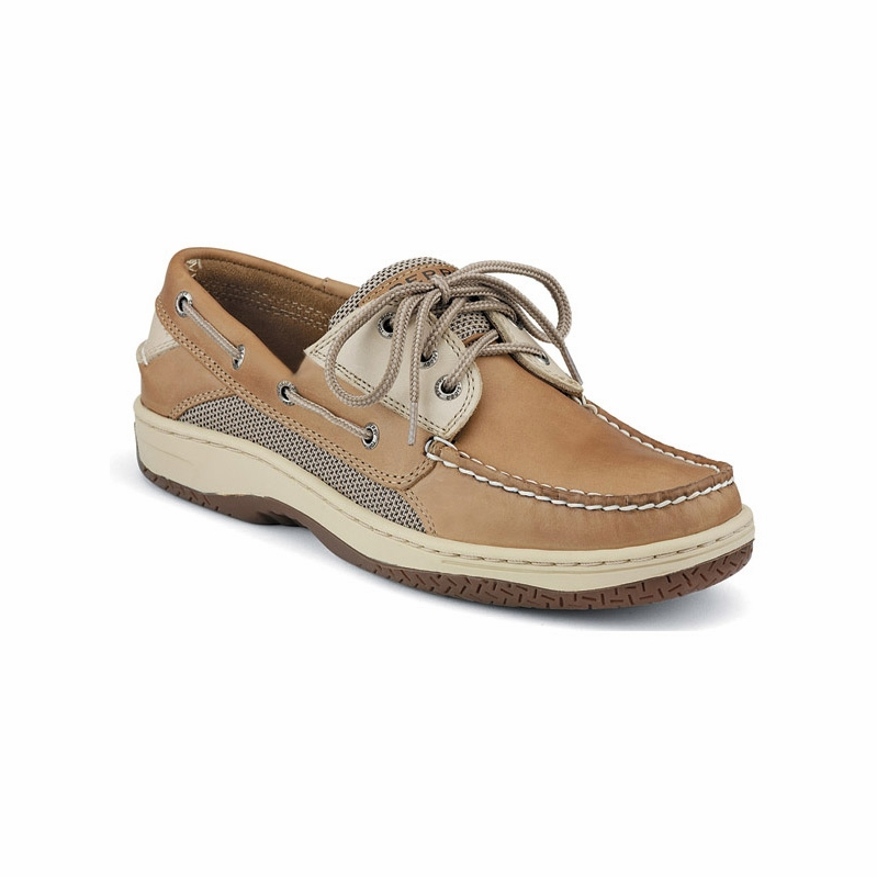 Sperry Top-Sider created the first boat shoe for sailors in Paul Sperry was inspired when he watched his dog run across ice with incredible traction. What he found was the tiny cuts and cracks going in all directions on his dog's paw created the traction.
