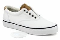 Sperry Top-Sider Men's Salt Washed Twill Striper CVO Sneaker - White