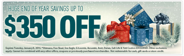 TackleDirect End of Year Coupon Sale