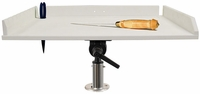 TACO 32in Poly Filet Table w/Adjustable Gunnel Mount - P01-2132W