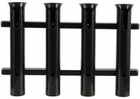 TACO 4-Rod Poly Rod Rack, Deluxe Black - P03-064B