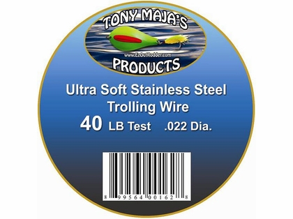Tony Maja Stainless Steel Trolling Wire 40lb Test 3000ft 5lb Spool