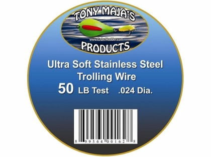 Tony Maja Stainless Steel Trolling Wire 50lb Test 3000ft 5lb Spool