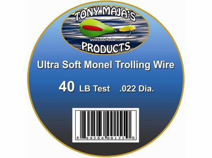 Tony Maja Ultra Soft Monel Trolling Wire 40lb 5200ft 10lb Spool