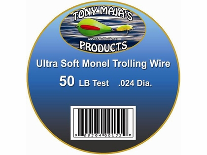 Tony Maja Ultra Soft Monel Trolling Wire 50lb 5200ft 10lb Spool