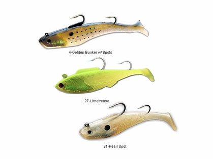 Tsunami Soft Bait Swim Shad Dual Hook Lures